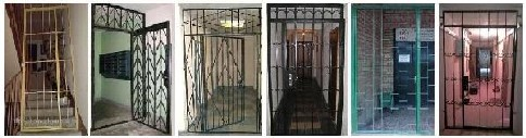 Изготовление решетчатых дверей в Киеве